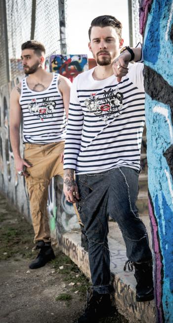 La marinière streetwear homme Mix.S décliné en manches longues, débardeur et aussi manches courte.