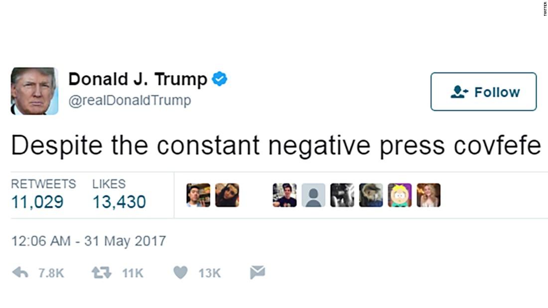 Tweet raté de Trump Covfefe